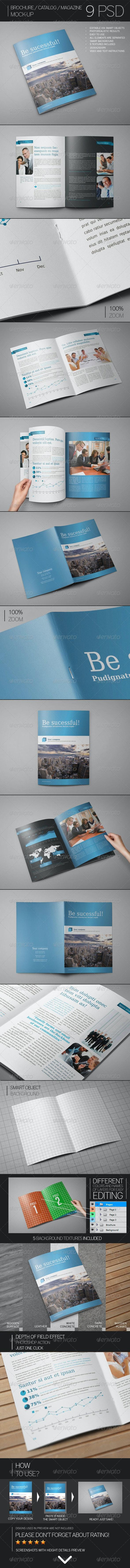 Brochure / Catalog / Magazine Mock-Up - Brochures Print