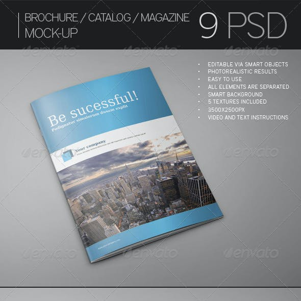 Brochure / Catalog / Magazine Mock-Up