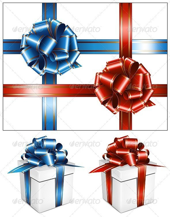 Gift Boxes and Bows - Decorative Symbols Decorative
