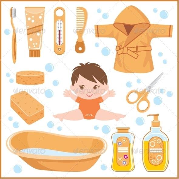 Set of Children's things for Bathing