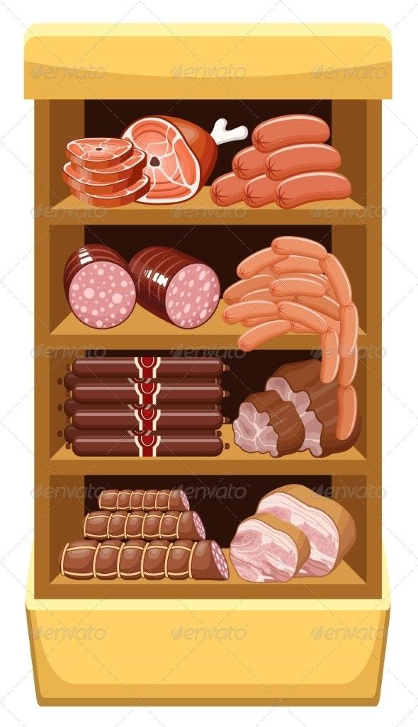 Meat Market.  - Food Objects