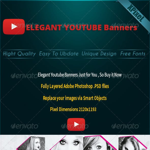 5 Elegant Youtube Banners