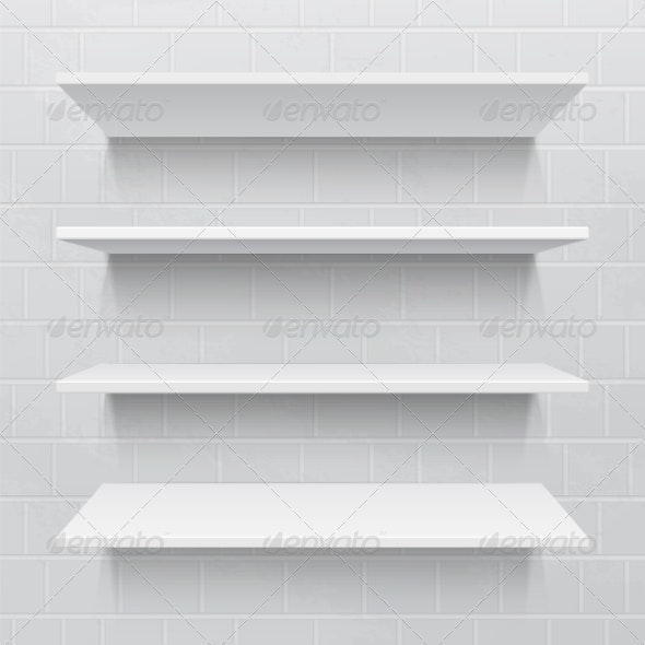 Shelves against Brick Wall - Retail Commercial / Shopping