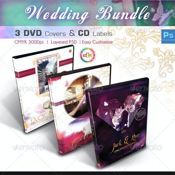 Wedding DVD Cover + Disc Label Bundle Vol1