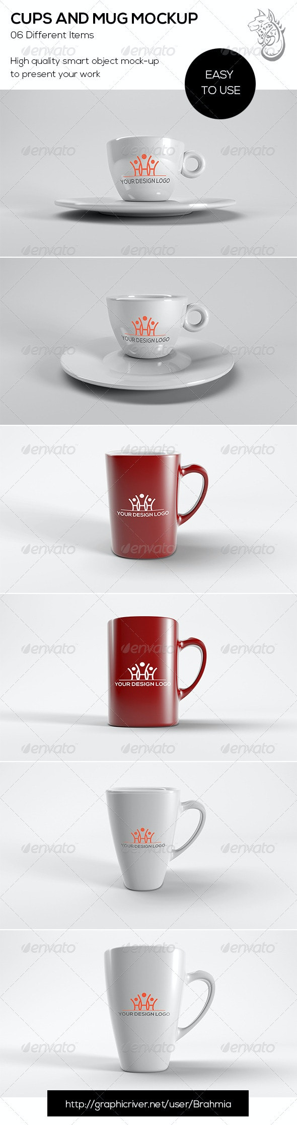 Cups And Mug Mockup - Food and Drink Packaging