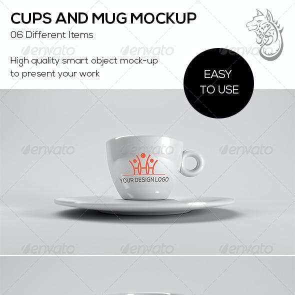 Cups And Mug Mockup