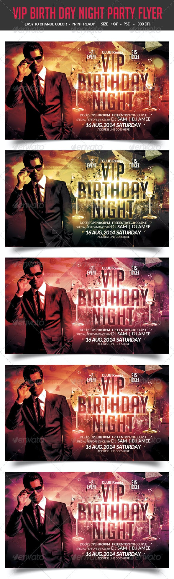 VIP Birthday Flyer - Events Flyers