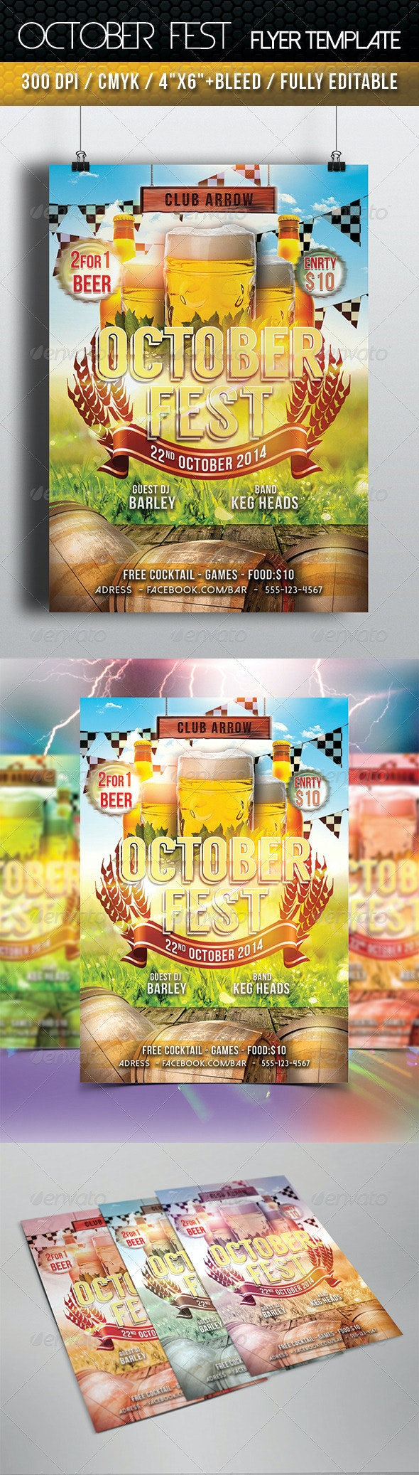 October Fest Flyer Template - Clubs & Parties Events