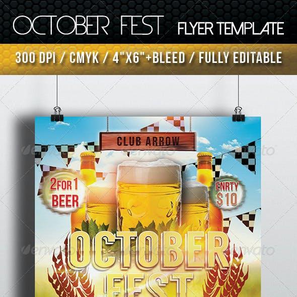 October Fest Flyer Template