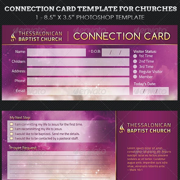 Heaven Church Connection Card Template