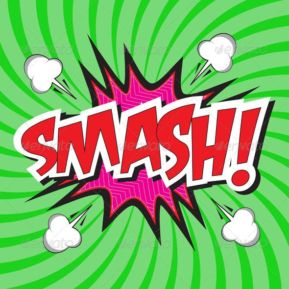 SMASH! Comic Speech Bubble in Pop Art Style