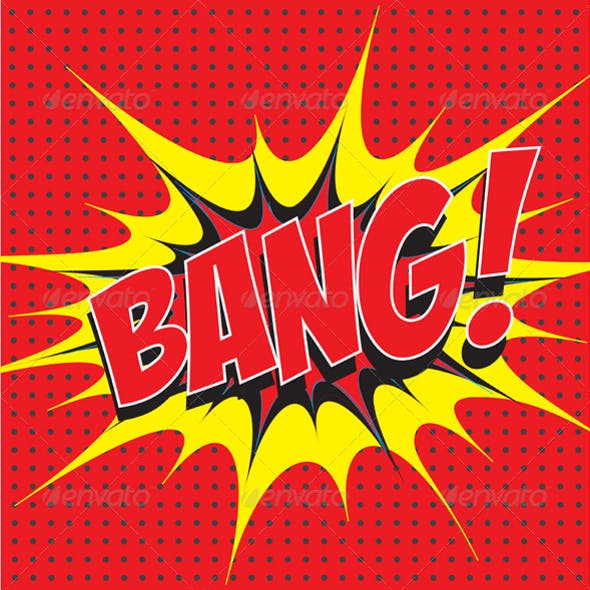 Bang! Comic Speech Bubble in Pop Art Style