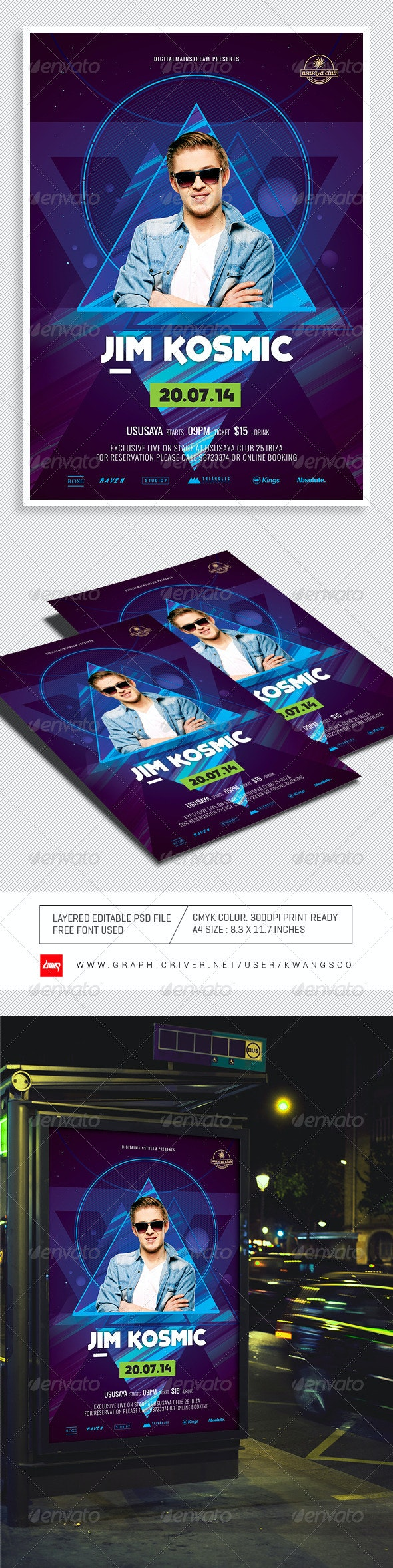 Special Dj Electronic Dance Music Flyer / Poster 3 - Clubs & Parties Events