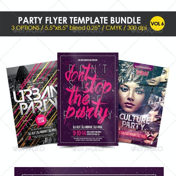 Party Flyer Template Bundle Vol. 6