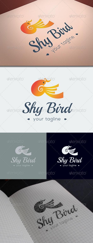 Shy Bird Logo Template - Animals Logo Templates