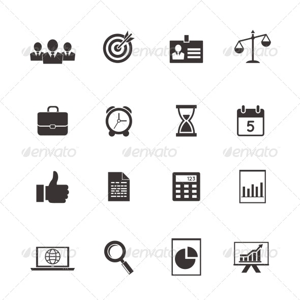 Business and Time Icons - Web Technology
