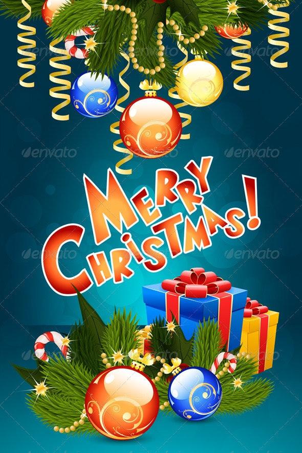Christmas Card Template - Christmas Seasons/Holidays