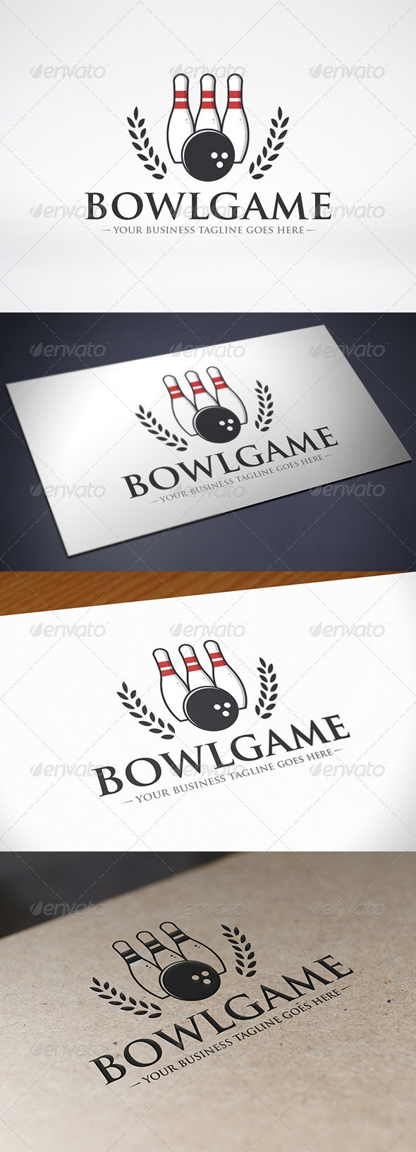 Bowling Logo Template - Objects Logo Templates