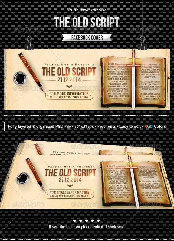 The Old Script - Facebook Cover - Facebook Timeline Covers Social Media