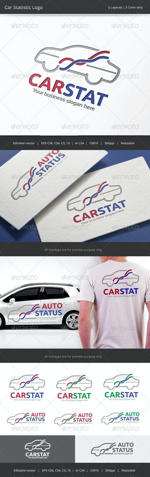 Car Statistic Logo - Objects Logo Templates