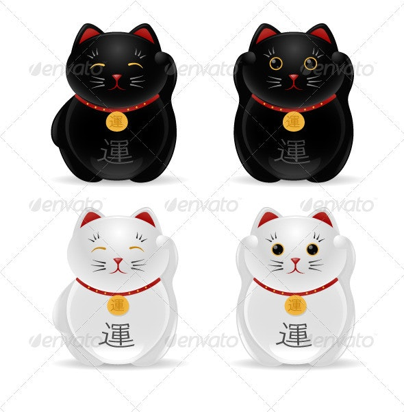 Lucky Cats - Objects Vectors