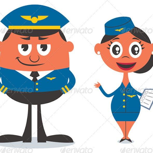Pilot and Air Hostess