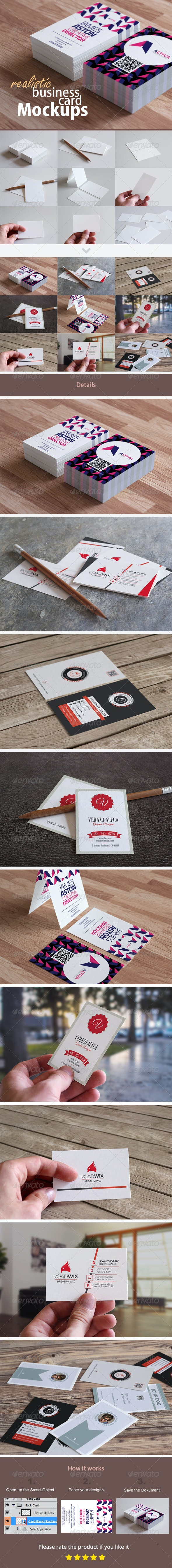 Realistic Business Card Mockups - Business Cards Print