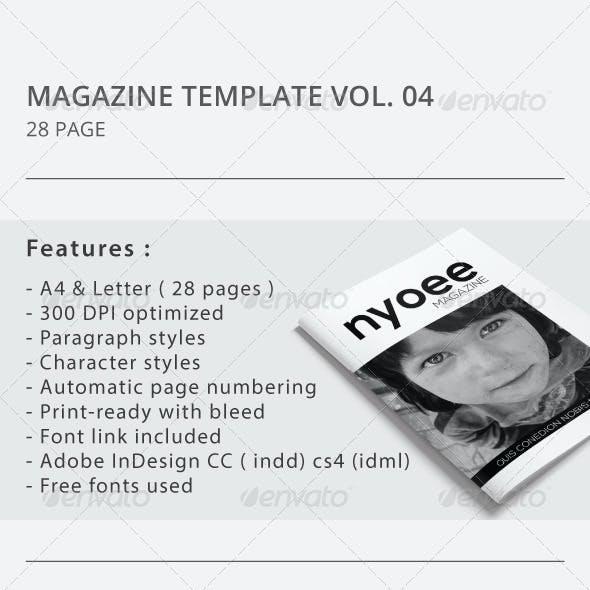 Indesign Magazine Template Vol.04