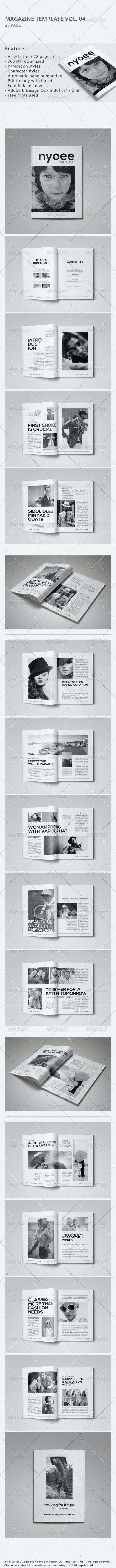 Indesign Magazine Template Vol.04 - Magazines Print Templates