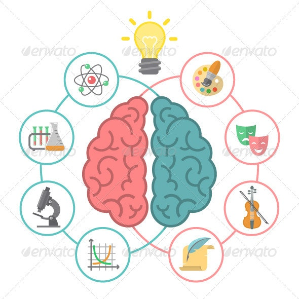 Brain Concept - Abstract Conceptual