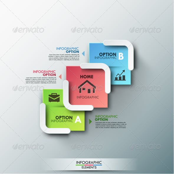 Modern Infographic Options Banner (2 Colors)