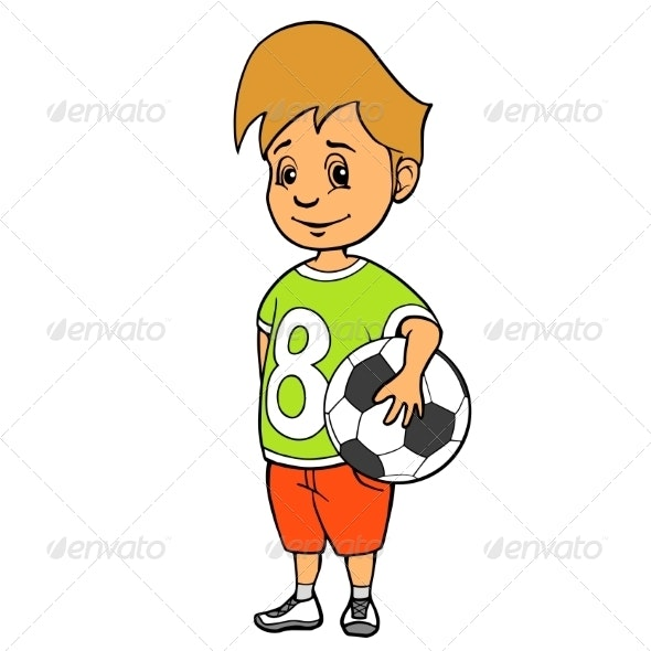 Boy with Soccer Ball - People Characters