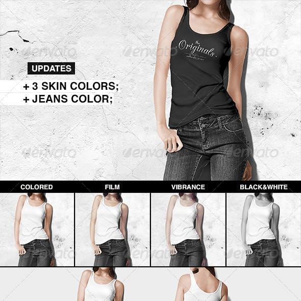Women Tank Shirt Mock-up