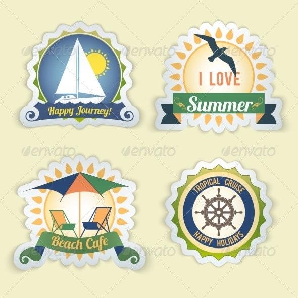 Summer Sea Emblems - Travel Conceptual