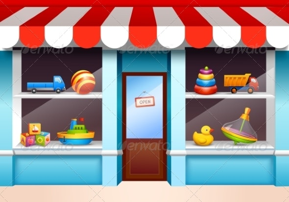 Toys Shop Window - Retail Commercial / Shopping