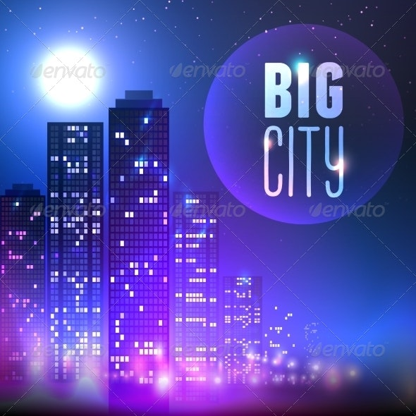 City at Night - Backgrounds Decorative