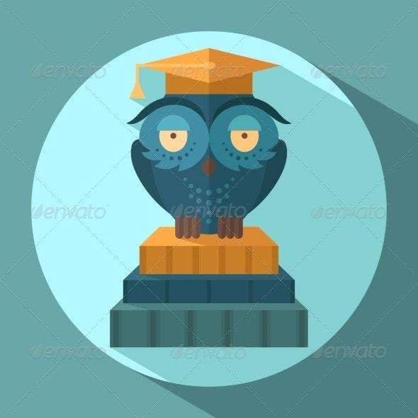 Owls in Graduation Cap - Animals Characters
