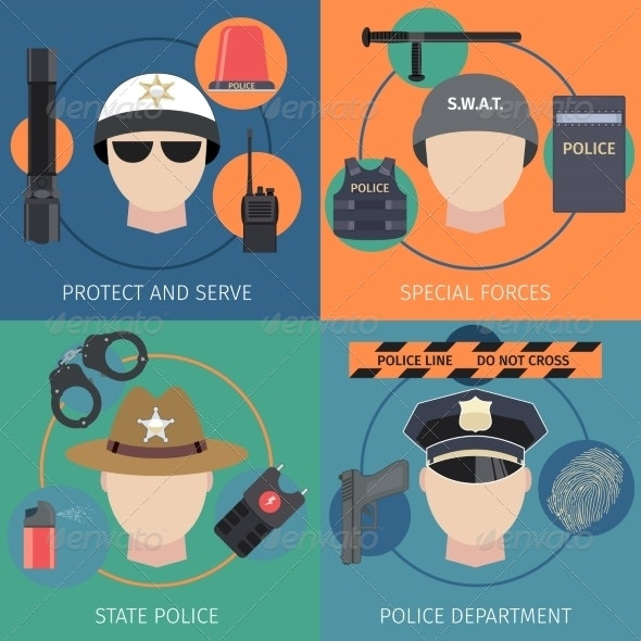 Police Flat Set - Industries Business
