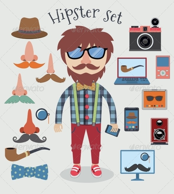 Hipster Boy Set - People Characters