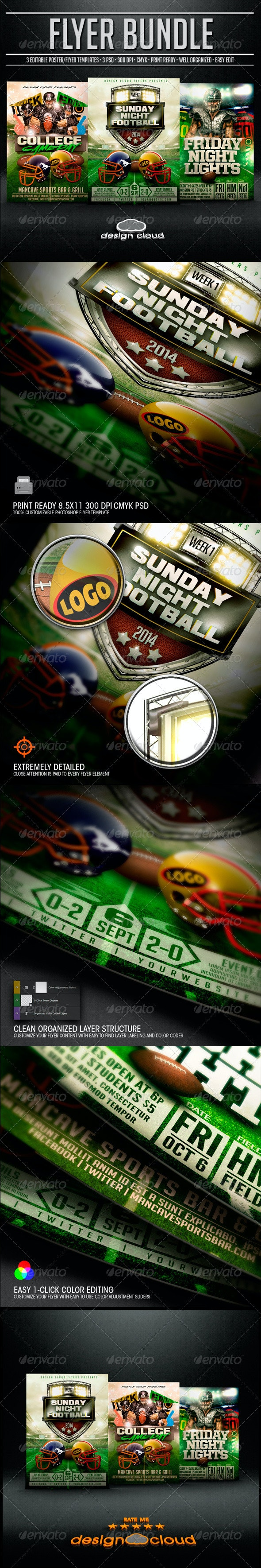Ultimate Football Flyer Template Bundle 2014 - Sports Events