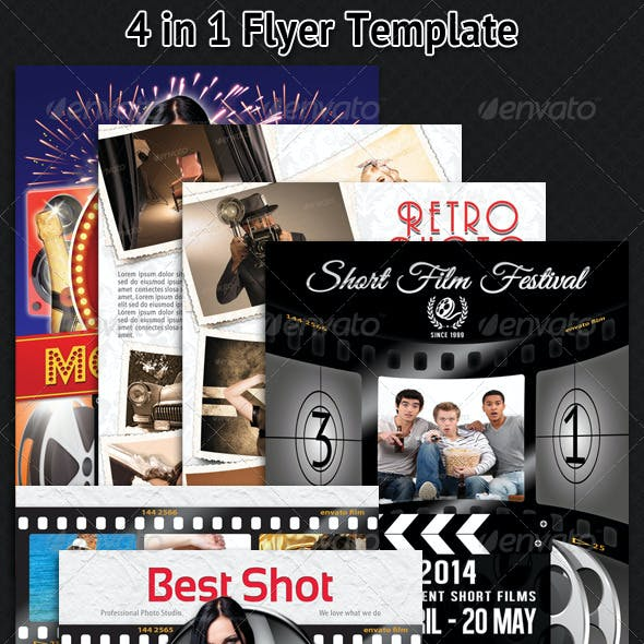 Film and Movie Bundle Flyer Template 03