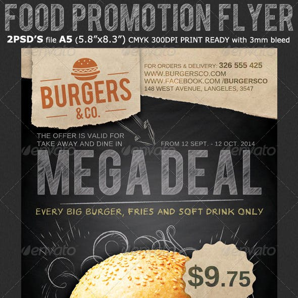 Restaurant/Food Promotion Flyer Template
