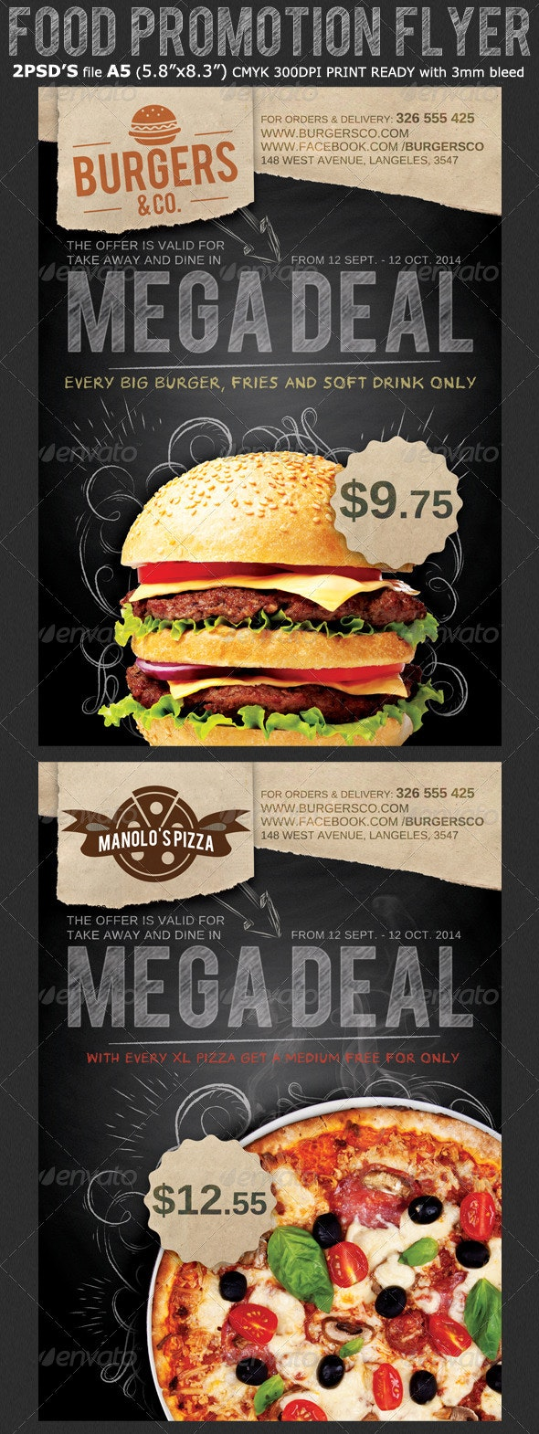 Restaurant/Food Promotion Flyer Template - Restaurant Flyers