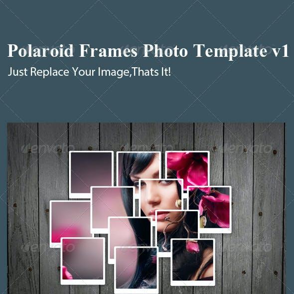 Polaroid Frames Photo Template v1