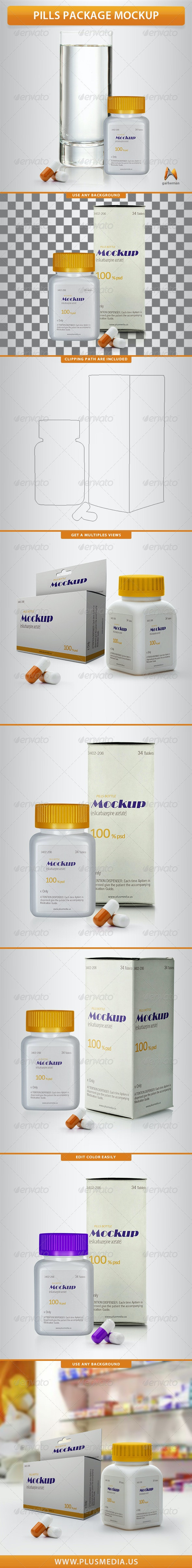 Pills Package Mockup - Product Mock-Ups Graphics