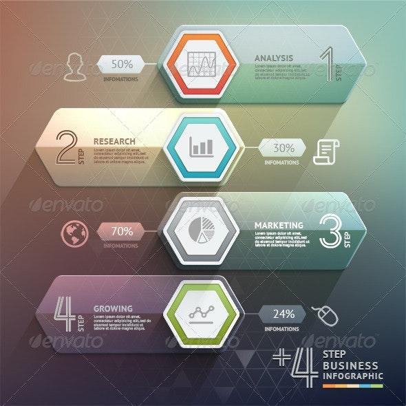 Business Arrow Step Infographics Template - Infographics