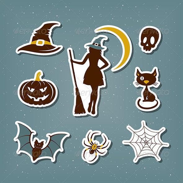 Halloween Stickers Set - Halloween Seasons/Holidays