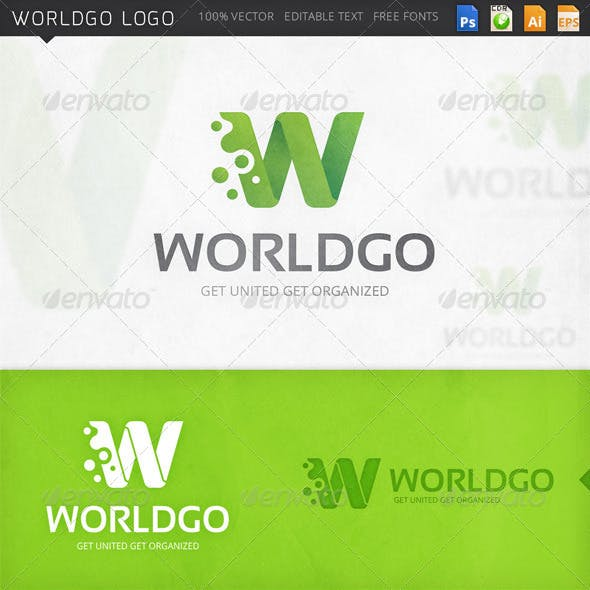 Worldgo Letter W Logo Template