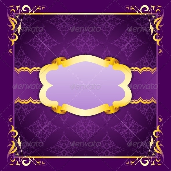 Elegant Frame with Ribbons on Seamless Ornament - Backgrounds Decorative