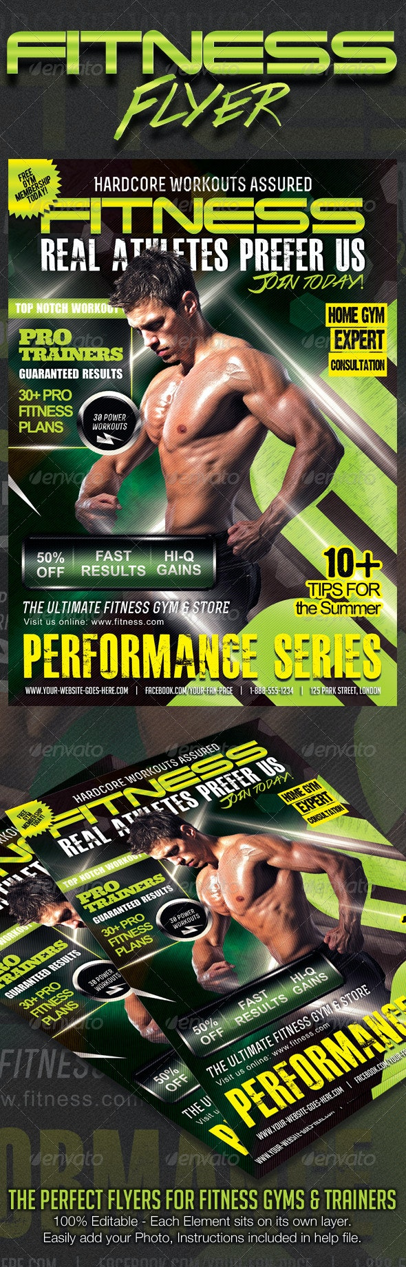 Ultimate Performance Fitness Flyer - Corporate Flyers